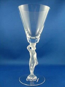 CLEARANCE! RARE Retro 1976+ BAYEL France BACCHANTE CRYSTAL Lady Stem Wine Glass