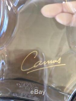 Camus Cognac Jubilee Baccarat Crystal Decanter Empty Bottle with Stopper