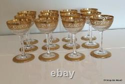 Cocktail glass in crystal Saint Louis Thistle gold in perfect condition
