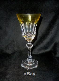 Cristal Sevres Chenonceaux Colored Crystal Wine Glasses Set of Six