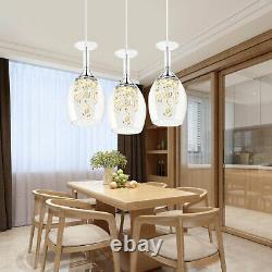 Crystal 3-Light LED Wine Glasses Ceiling Light Chandelier Fixtures Pendant Lamp