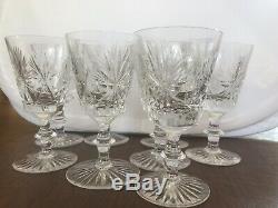Crystal Star of Edinburgh Set of 8 Crystal 5 Inch Red Wine / Cordial Glasses