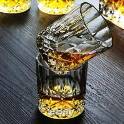 Crystal Wine Sets Creative Whiskey Cup Decanter Wine Bottle Glass 7pcs Each Set