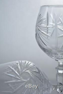 Crystal glass Wine glasses set of 6 from Poland Hand Made HANDMADE Clear