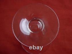 Daum Nancy, French Cut Crystal Wine Glasses, Set Of 6, Signed