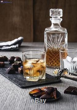 Decanter Vintage Glass Liquor Whiskey Crystal Wine Stopper Scotch Bar Bottle NEW