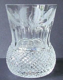 EDINBURGH CRYSTAL THISTLE PATTERN 4 OLD FASHIONED GLASSES VINTAGE (Ref5725)