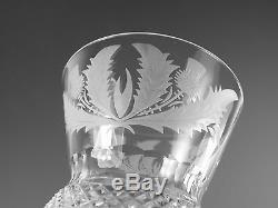 EDINBURGH Crystal THISTLE Cut Hock Wine Glass / Glasses 6 5/8 (1st)