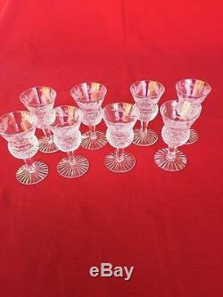 Edinburgh Crystal Scotland Thistle Ptrn 8 Cordial Glasses Stems Wine