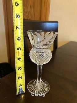 Edinburgh Crystal Tall Wine Hocks, Thistle Pattern, Set of 8, RARE TALL Style