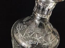 Edinburgh Crystal Wine Decanter with Stopper, Made in Scotland, 8 1/2 T x 5 W