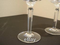 Exc 4 Ralph Lauren Crystal Herringbone Classic Birdbath Red Wine 8 3/4 Goblets