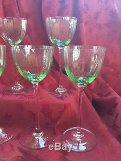 FLAWLESS Exquisite BACCARAT Crystal AQUARELLE CHARTREUSE Five RHINE WINE Glasses