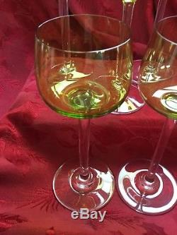 FLAWLESS Exquisite BACCARAT Crystal BAC66 HOCK CHARTREUSE Set 5 WINE Glasses