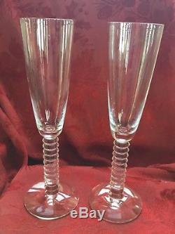 FLAWLESS Exquisite BACCARAT France Pair LALANDE Crystal CHAMPAGNE FLUTES WINE