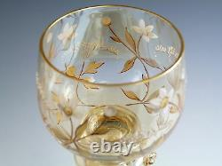 FRITZ HECKERT Roemer Antique Gilded Set of 6 Hock Wine Glasses