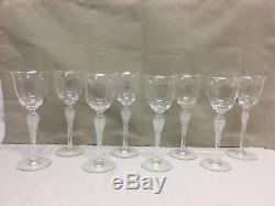 Faberge Wine Glasses -Set of 8- Pavlova Pattern Gobblets Ballerina Frosted Stem