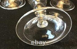 Four (4) Williamsburg Crystal 6 Baluster Wine Glass Goblets By BLENKO Excellent