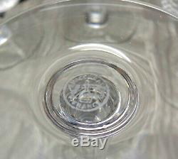 Four Baccarat France Nancy Pattern 5½ Crystal Claret Wine Stem Glasses