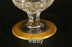 France St louis Crystal Handled Wine Decanter Thistle 24 KT Solid Band withStopper