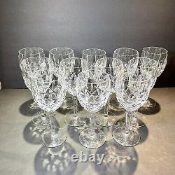 GORHAM CRYSTAL LADY ANNE STEMWARE WATER GOBLET GLASS 7 5/8 SIGNED Set 12