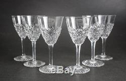 Group of 6 Baccarat France Crystal Sherry Wine Glasses in Bellinzona, Signed