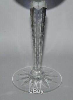 Harlequin Set of 6 x Bohemian Cut To Clear Crystal 7 3/4 Hock Wine Glasses -vgc