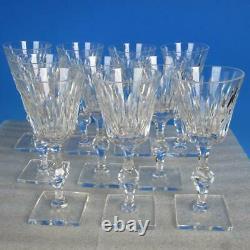 Hawkes Crystal Eardley Stem 6015 Square Base 10 Claret Wine Glasses
