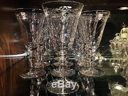 Hawkes Crystal Henley Water Wine Goblets (10) H. G Hawkes & Co