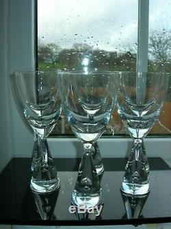 Holmegaard Princess Six White Wine Goblets Bent Severin