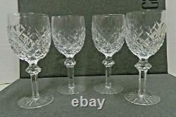 LOT 4 Waterford Cut Crystal Powerscourt 7 5/8 Water Wine Glasses