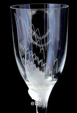 Lalique Angel Champagne Flute (Wine Glass) Signed & Pristine GIFT BOX