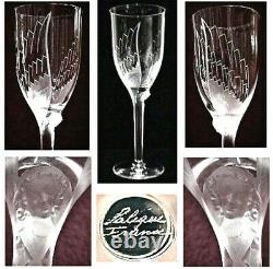 Lalique Angel Tall Stemmed Champagne /wine Glass. Quality Gift /investment