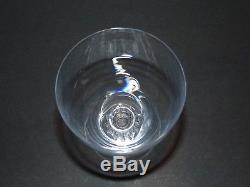 Lalique France ALGER Crystal Glass Stemware Wine/Water Goblets 4.75 Tall