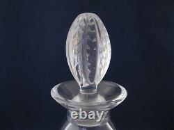 Lalique France Fontainebleau Crystal Wine Decanter