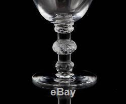 Lalique Saint Hubert Crystal Port Wine Goblet Glasses, Set of (5), Multiple Sets