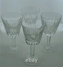 Lismore Waterford Wine Glass 4 Ounce Set of 4 Beautiful Wine Glasses