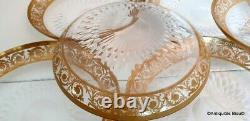 Little Plate 15cm in crystal Saint Louis Thistle gold in perfect condition