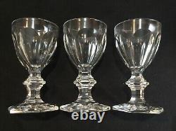 Lot of 3 Baccarat Crystal Harcourt Port Wine Glasses 4 3/4 C