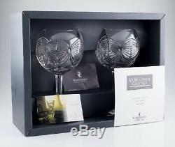 Lot of 3 Waterford Millennium Collection Crystal Goblet Pairs (6 Total) with Boxes