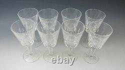 Lot of 8 Waterford Crystal LISMORE White Wine Glass EXCELLENT