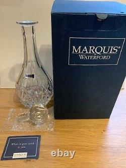 MARQUIS BY WATERFORD CRYSTAL BROOKSIDE WINE DECANTER With STOPPER