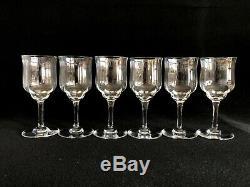 MINT Set of SIX (6) Baccarat Capri Optic Crystal Wine Glasses 5 3/8 x 2 1/4