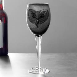 Mats Jonasson Målerås Set of 2 Strix Owl Wine Glass 24cm