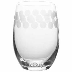Mikasa Cheers Stemless Crystal Wine Glasses Set of 6