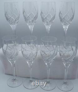Mikasa Olympus Wine crystal glasses lot of 8. Excellent Condition