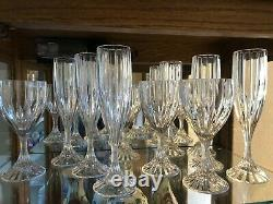 Mikasa Park Lane crystal glasses-six champagne, six wine and six water