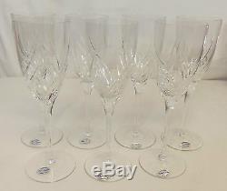 Miller Rogaska Lead Crystal JULIET 8 oz White Wine 8 1/2 Glass Set of 7 NEW