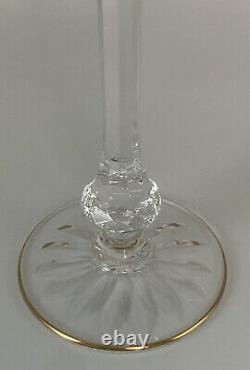 Mint St. Louis Crystal French Massenet 6-3/4 Cobalt Blue Hock Wine Goblet Gold