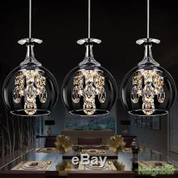 Modern Crystal Wine glasses Chandelier Hanging lights Pendant Lamp LED Lighting